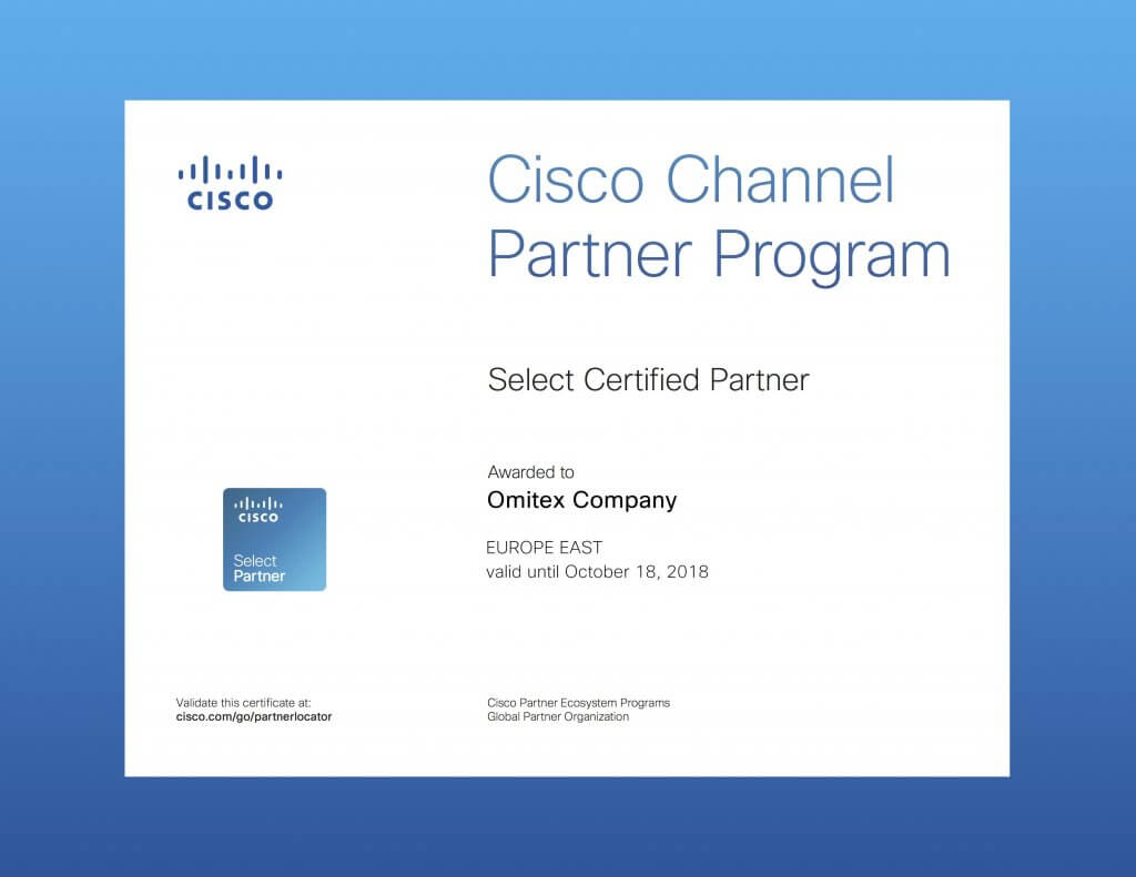 Cisco Select Certified Partner (Гомель, Минск)