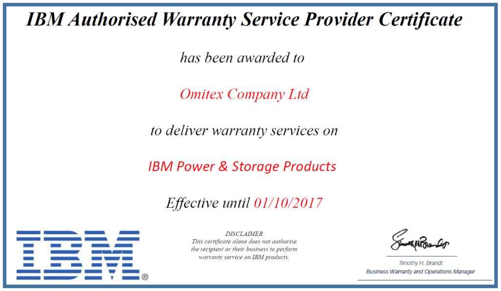 Гарантийное обслуживание IBM Power & Storage