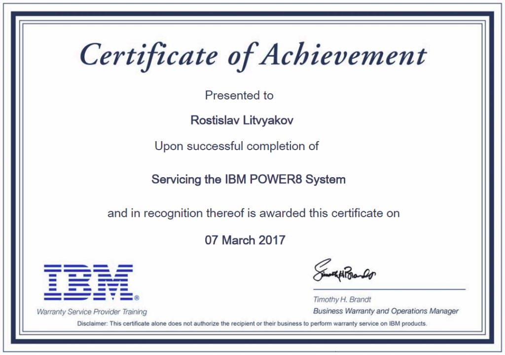 Servicing the IBM POWER8 System